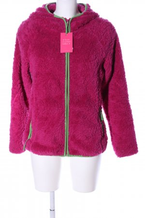 James & Nicholson Giacca in eco pelliccia rosa-verde stile casual