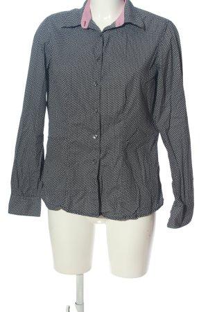 James & Nicholson Langarmhemd schwarz-weiß Allover-Druck Casual-Look