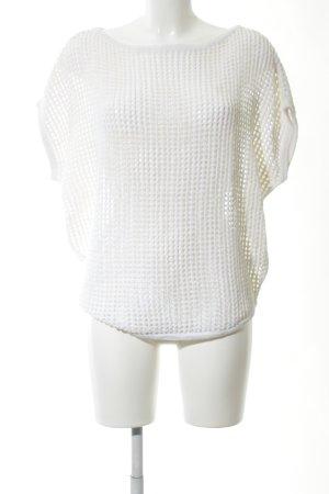 James Perse Gehaakt shirt wit kabel steek casual uitstraling
