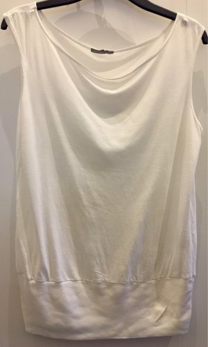 James Perse Camisa con cuello caído blanco lyocell