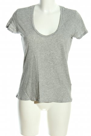 James Perse T-Shirt hellgrau meliert Casual-Look