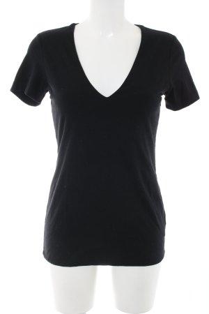 James Perse V-Neck Shirt black casual look