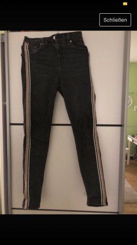 Topshop Hoge taille jeans veelkleurig