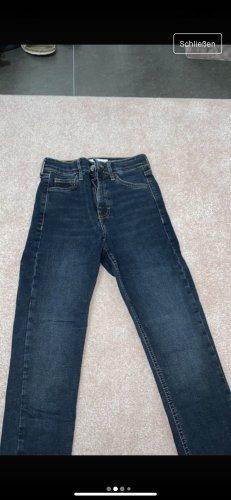 Topshop High Waist Jeans dark blue
