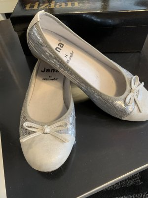 Jana Slingback Ballerinas light grey-silver-colored