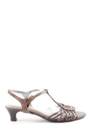 Jana High Heel Sandaletten braun Elegant