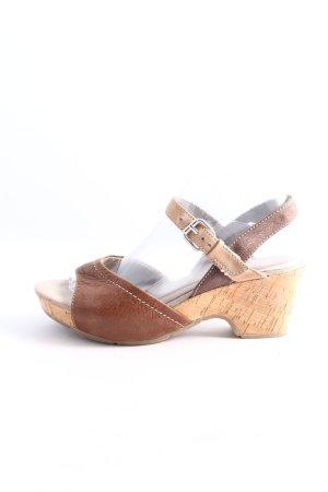 Jana High Heel Sandaletten braun Casual-Look