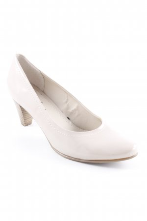 Jana High Heels creme Business-Look