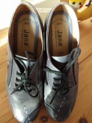 Jana Escarpins à lacets bleu acier