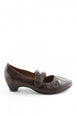 Jana Mary Jane Ballerinas bronzefarben Business-Look