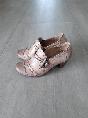 Jana Chaussure décontractée or rose cuir