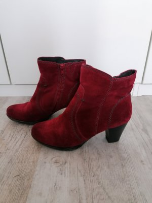 Jana Stiefellette Ankle Boots Gr. 5 1/2 (39) Rot