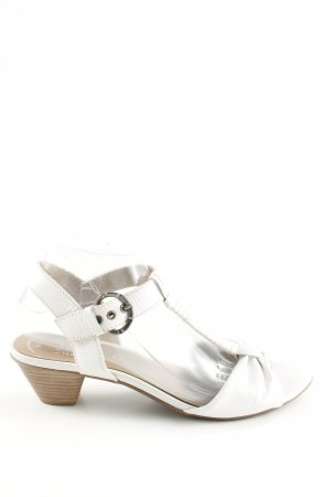 Jana T-Strap Sandals white casual look