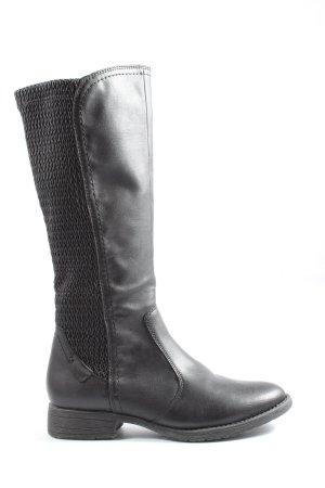 Jana Wide Calf Boots black casual look