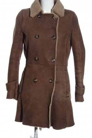 Jane Ginsberg Leather Coat brown casual look