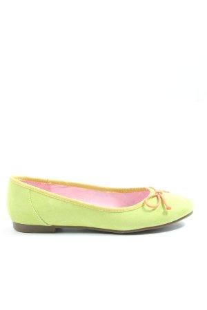 Jane Klain faltbare Ballerinas grün Casual-Look