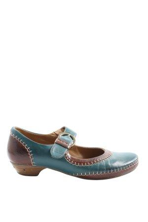 Jane Klain Mary Jane Pumps braun-blau Casual-Look