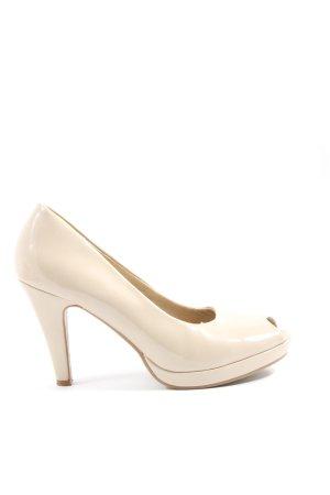 Jane Klain Tacones con punta abierta blanco puro estilo «business»