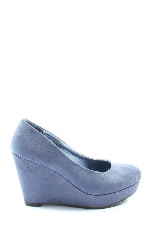Jane Klain Plateau-Pumps blau Casual-Look
