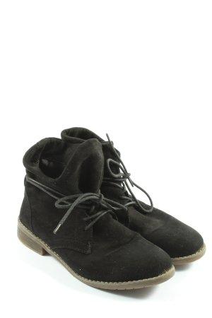 Jane Klain Bottines à lacets noir style décontracté
