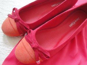 Jane Klain * %Summer Sale% Edle Ballerinas Wildlederoptik * koralle-orange * 40 NEU