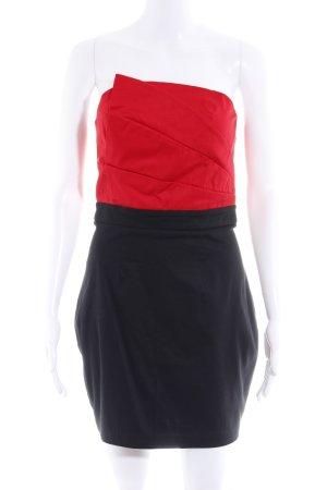 Jane norman Bandeaukleid schwarz-rot 90ies-Stil