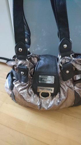 Jane Norman beutel Tasche metallic braun Bronze