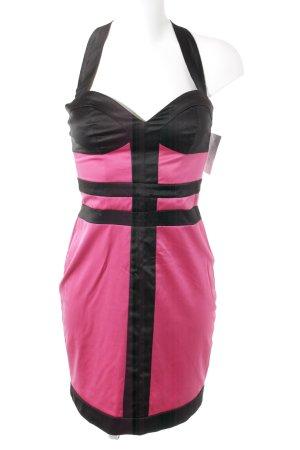 Jane norman Robe bustier rose-noir élégant