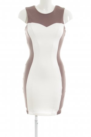 Jane norman Etuikleid graulila-weiß Elegant