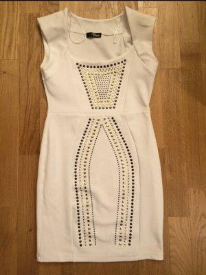 Jane Norman: Figurbetontes Kleid Gr. 12 / 38 Weiß NEU und ungetragen