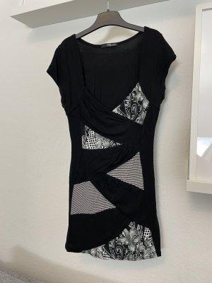 Jane Norman Gr. 36 Shirt schwarz weiß grau Oberteil