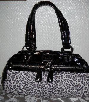 JANE NORMAN Henkel Tasche Shopper Bag Leo Leopard  Imitat Animal Print Lack