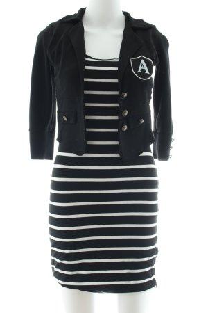 Jane norman Jerseykleid schwarz-weiß Streifenmuster Casual-Look