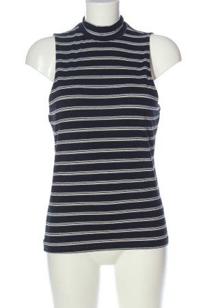 Jane norman Basic topje zwart-wit gestreept patroon casual uitstraling