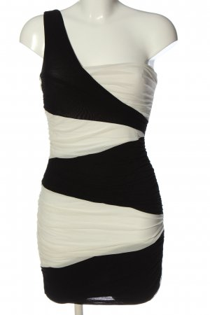 Jane norman One Shoulder Dress black-white elegant