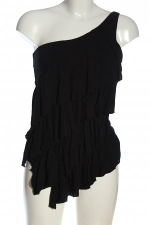 Jane norman Haut avec une épaule dénudée noir style décontracté