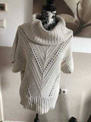 Jane norman Sweter bez rękawów z cienkiej dzianiny złoto-kremowy