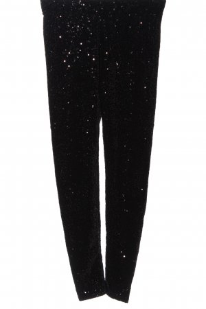 Jane norman Pantalone jersey nero con glitter