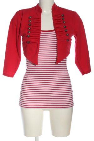 Jane norman Twin Set punto rojo-blanco estampado a rayas look casual