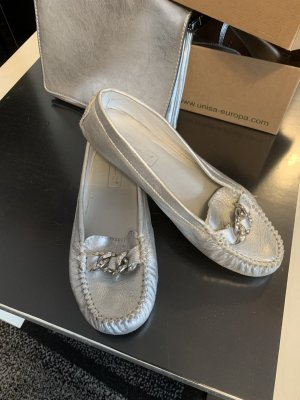 Janet D Slingback Ballerinas silver-colored