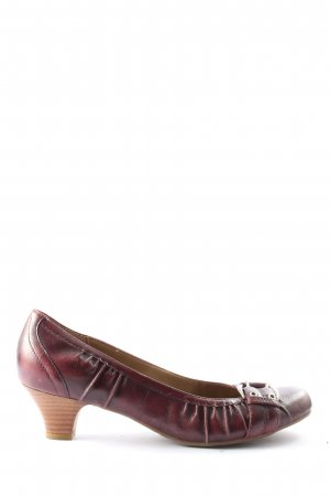 Janet D Hochfront-Pumps rot Casual-Look
