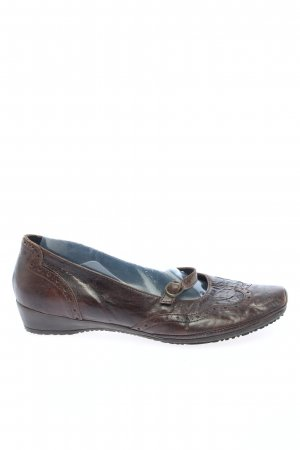 Janet D Mary Jane Ballerinas braun Casual-Look