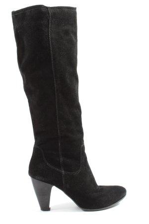 Janet D Kozaki z cholewką czarny W stylu casual