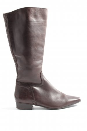 Janet D Wide Calf Boots brown casual look