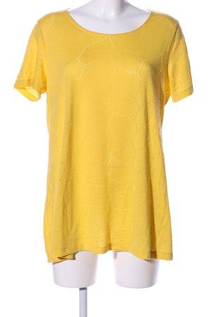 Janet & Joyce Top cut-out giallo pallido stile casual