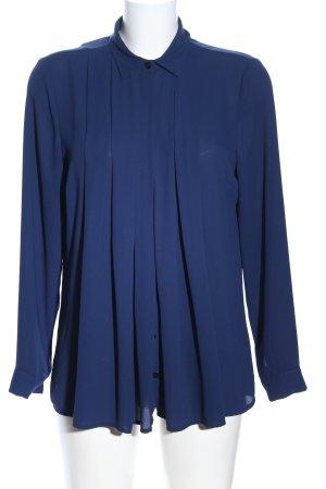 Janice & Jo Langarm-Bluse blau Business-Look