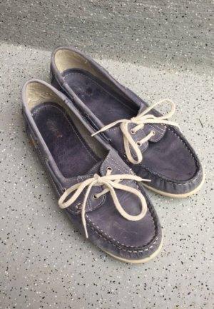 Deichmann Chaussures bateau bleu acier-blanc