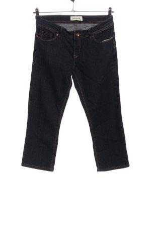 Janina Jeans a 7/8 nero puntinato stile casual