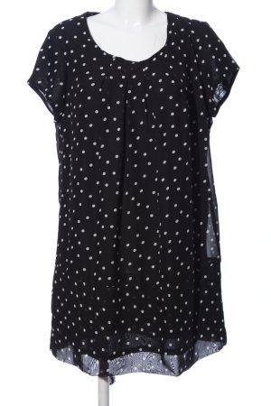 Janina A-Linien Kleid schwarz-weiß Punktemuster Casual-Look
