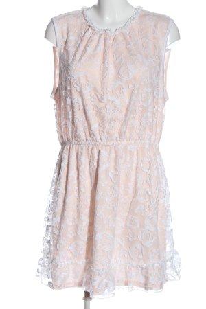 Janina A-Linien Kleid pink-weiß Casual-Look